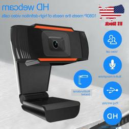 1080P Full HD USB Webcam for PC Desktop & Laptop Web Camera