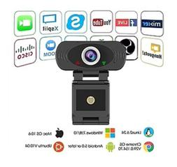 1080p Full HD USB Webcam with Built-in Microphone,30fps Plug