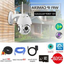 1080P HD 2.0MP Outdoor Wireless WiFi CCTV IP Camera 5X Optic