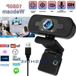 1080P HD USB Webcam with Microphone Web Camera Auto Focus fo