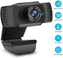 1080P HD Webcam with Microphone, Webcam for Gaming Conferenc
