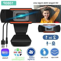 1080P Web Cam HD Camera USB Webcam with Mic Microphone for C