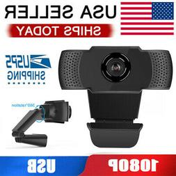 1080P Webcam HD Camera USB Web Cam W/ Microphone For Laptop