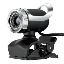 USB 2.0 Webcam Camera with MIC Clip-on for Computer PC Lapto