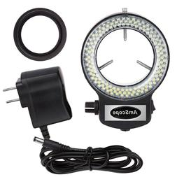 AmScope 144 LED Adjustable Compact Microscope Ring Light + A