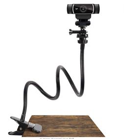 25 Inch Webcam Stand - Flexible Desk Mount Clamp Gooseneck S