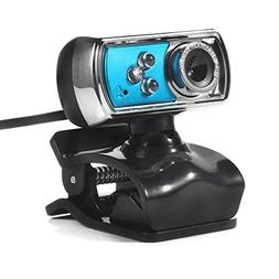 Alloet HD 12.0MP 3 LED USB Webcam Camera with Mic and Night