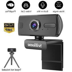 3MP HD Webcam Microphone USB Computer Camera Video Cam For P
