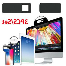 3Pc Ultra-Thin Sliding Webcam Cover Web Camera Privacy Block