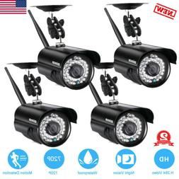 4x 720P Security IP Camera Video Wireless Waterproof Outdoor