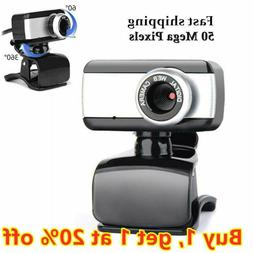 50.0 Mega Pixel USB2.0 HD Webcam Camera Web Cam With Microph