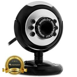 HD 12.0 MP 6 LED USB Webcam Camera with Mic & Night Vision f