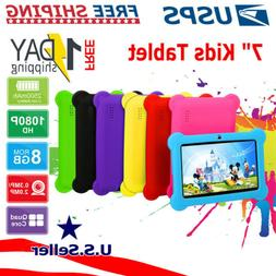 "7"" Quad Core Android Tablet PC HD WiFi Webcam 8GB for Kids C"