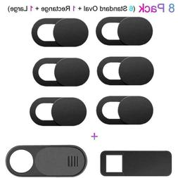 8PCS WebCam Cover Slide Camera Privacy Security Protect Stic