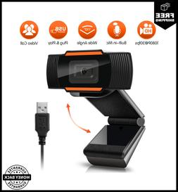 Auto Focus Webcam 1080P Full HD Widescreen Web Camera w/ Mic