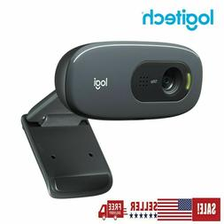 Logitech C270 HD 720P Webcam USB 2.0 Web Camera HD Microphon