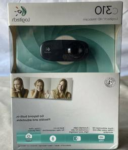Logitech C310 HD Webcam - Black-New In An Unopened Box