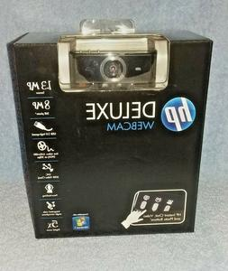 HP Deluxe Webcam 8MP Complete in Sealed, Factory Fresh Box;