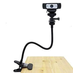 Desk Mount Webcam, Webcam Flexible Mount Clamp Gooseneck Sta