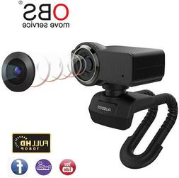 AUSDOM Full HD 1080p Webcam OBS Live Streaming Webcam with M