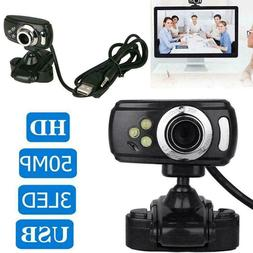 Full HD USB 50.0M Webcam Video Camera & Microphone Skype Lap