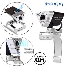 PAPALOOK Full USB HD 1080P Webcam Video Camera with Micropho