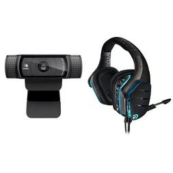 Logitech G633 Gaming Headset + Logitech HD Pro Webcam C920 S