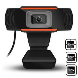 HD 1080P Webcam Rotatable Laptop Built-in Camera Video Recor