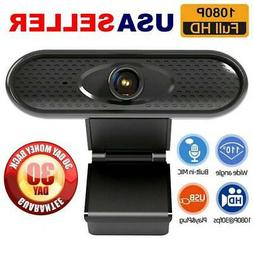 Webcam with Microphone Full HD 1080P Streaming USB Camera fo