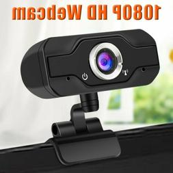 HD 1080P Webcam with Microphone USB Camera for PC/Mac Laptop