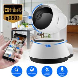 HD 1080P Wireless Pan Tilt Home Security IP Camera CCTV Nigh