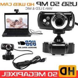 HD 50 Megapixels USB3.0 Webcam Camera with MIC Clip-on for C