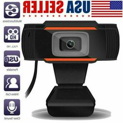 HD 720P Webcam with Microphone USB Computer Camera for Live
