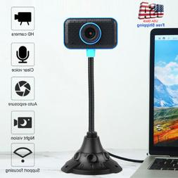 HD Web Cam Camera Webcam with Microphone USB 2.0 for Compute