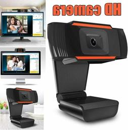 HD Webcam PC Mac Laptop Desktop Web Camera W/ Microphone For