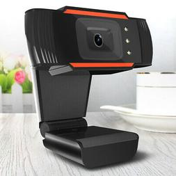 HD Webcam PC Monitoring Peripherals Rotatable USB Absorption