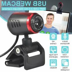 USB 5MP HD Webcam Camera Autofocus Anti-noise w/ Mic For PC