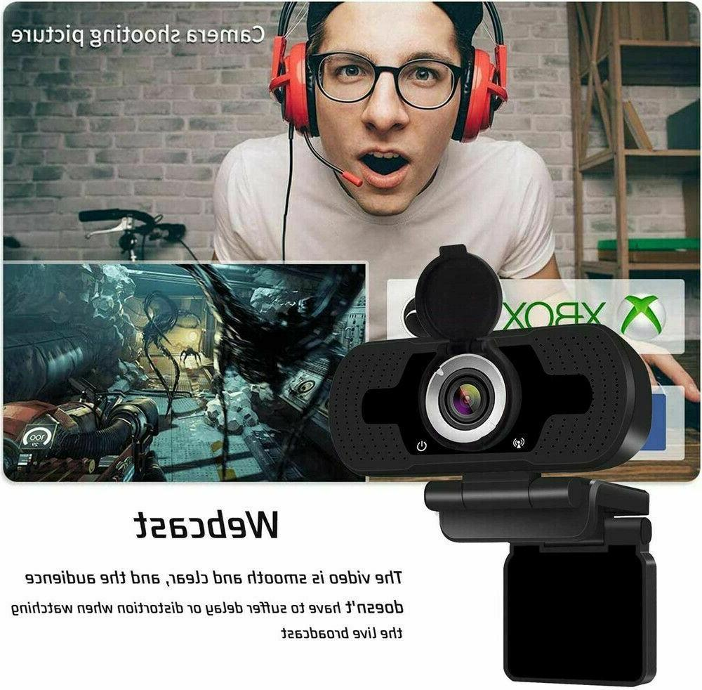 1080P HD USB Webcam for & Web with Microphone/FHD