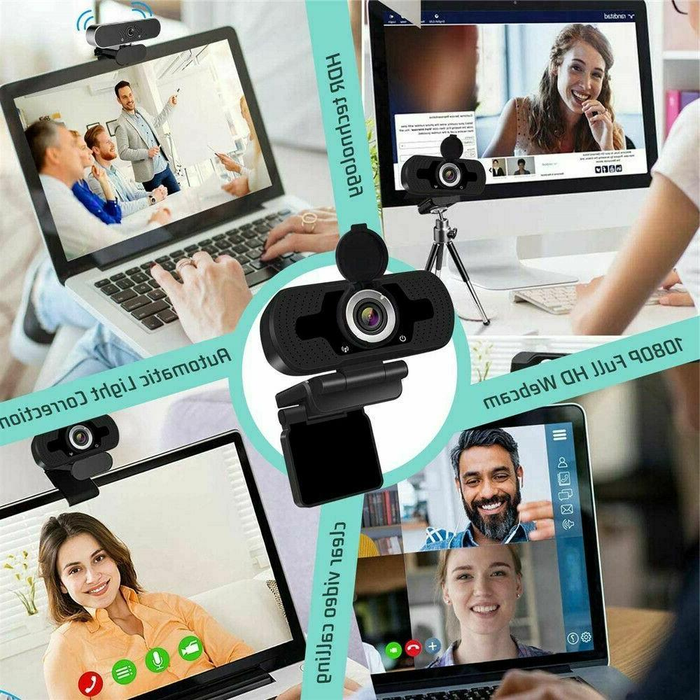 1080P Full Webcam for & Laptop Web Camera with Microphone/FHD
