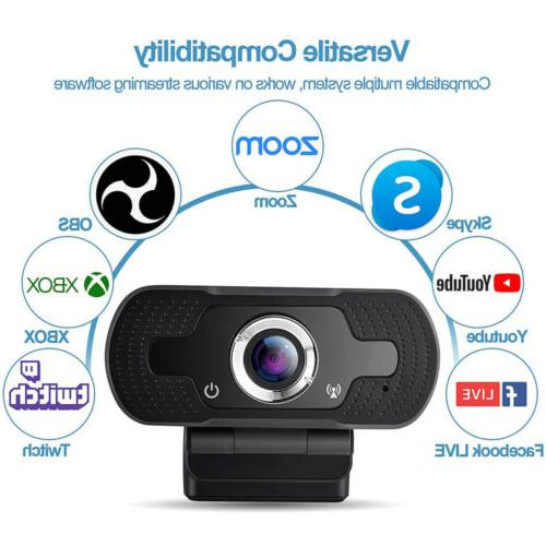 Full Webcam for with Microphone/FHD