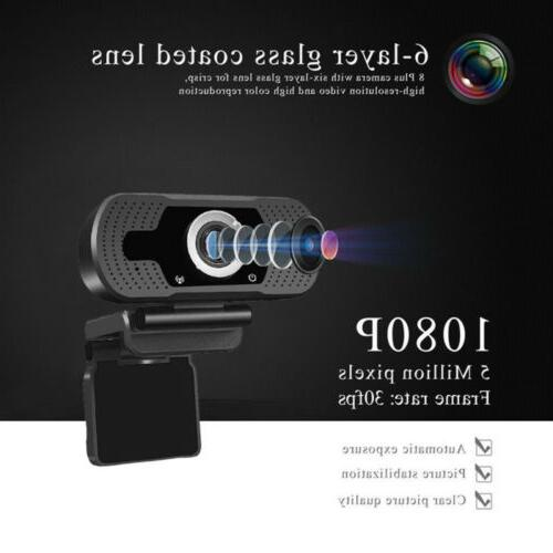 Full HD USB Webcam Desktop & Web Camera with