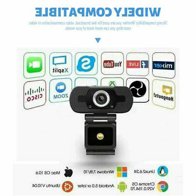USA 1080P USB Webcam Camera with Desktop & Laptop
