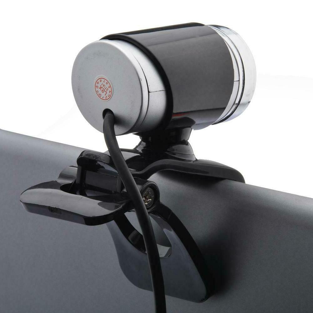 1080P USB Camera 360° Clip-on 30fps PC Computer Laptop