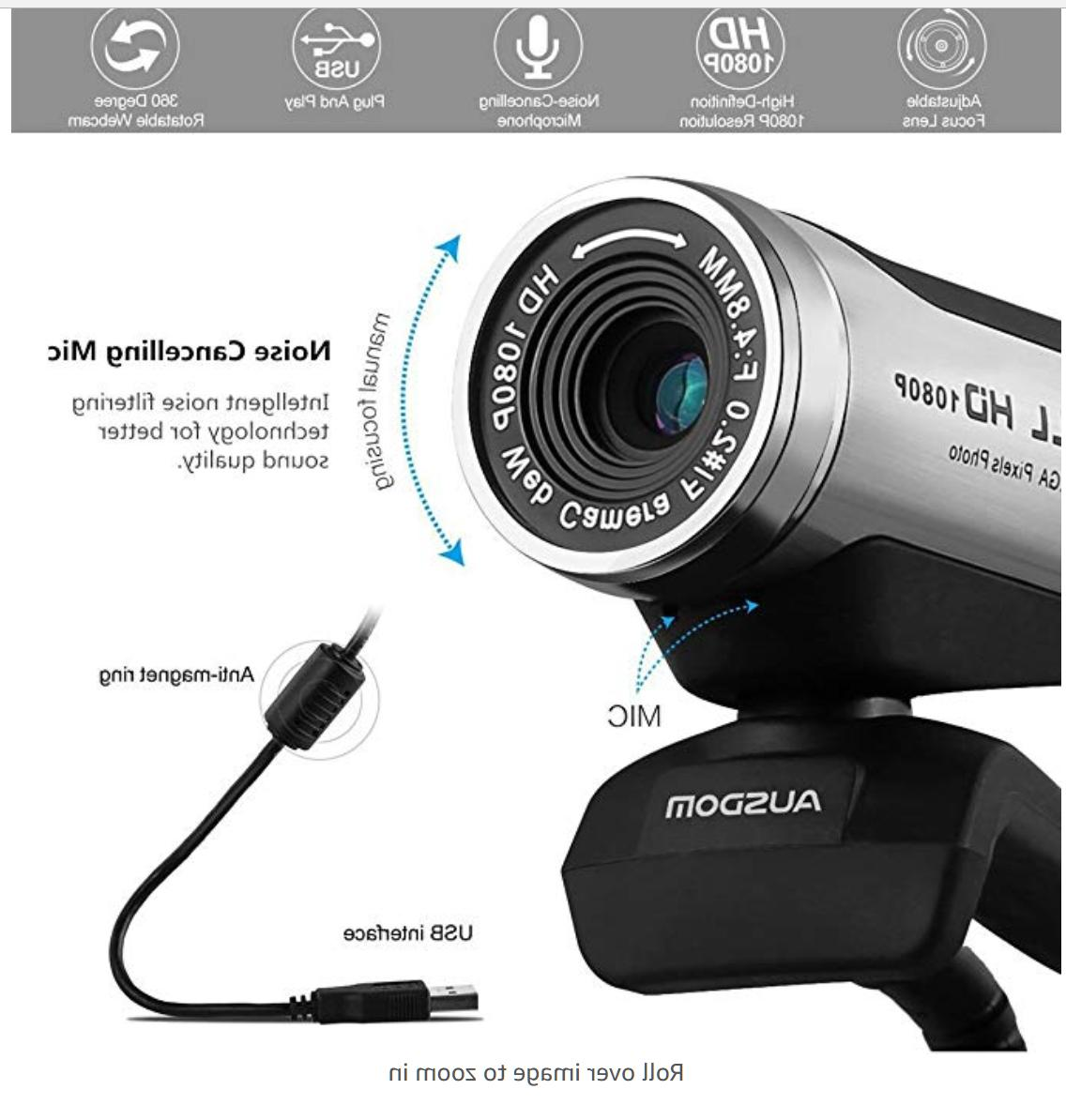 1080p hd usb webcam with built in