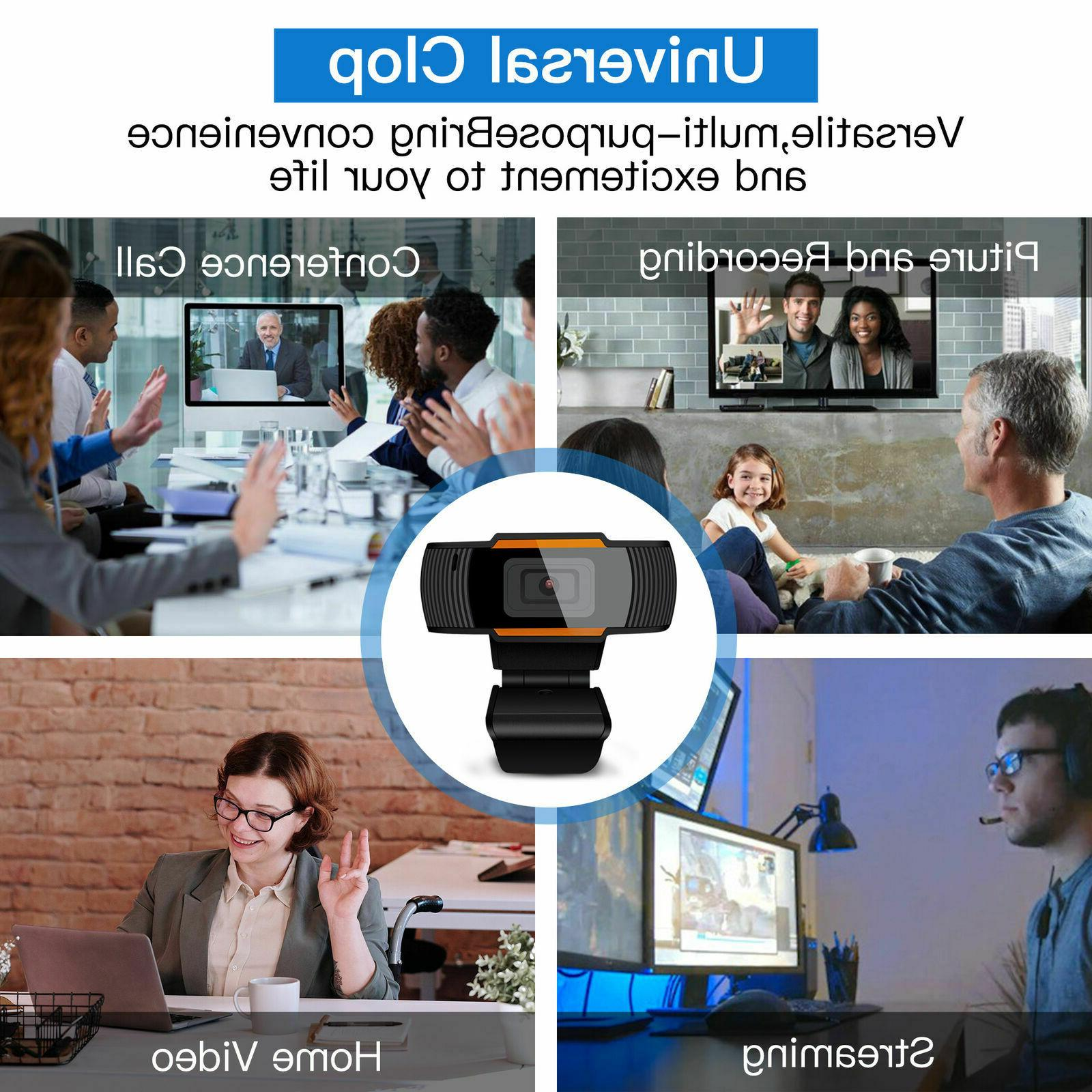 1080P Webcam Microphone Auto Web Camera Laptop Desktop