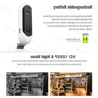 1080P Wireless Battery Security WIFI Night