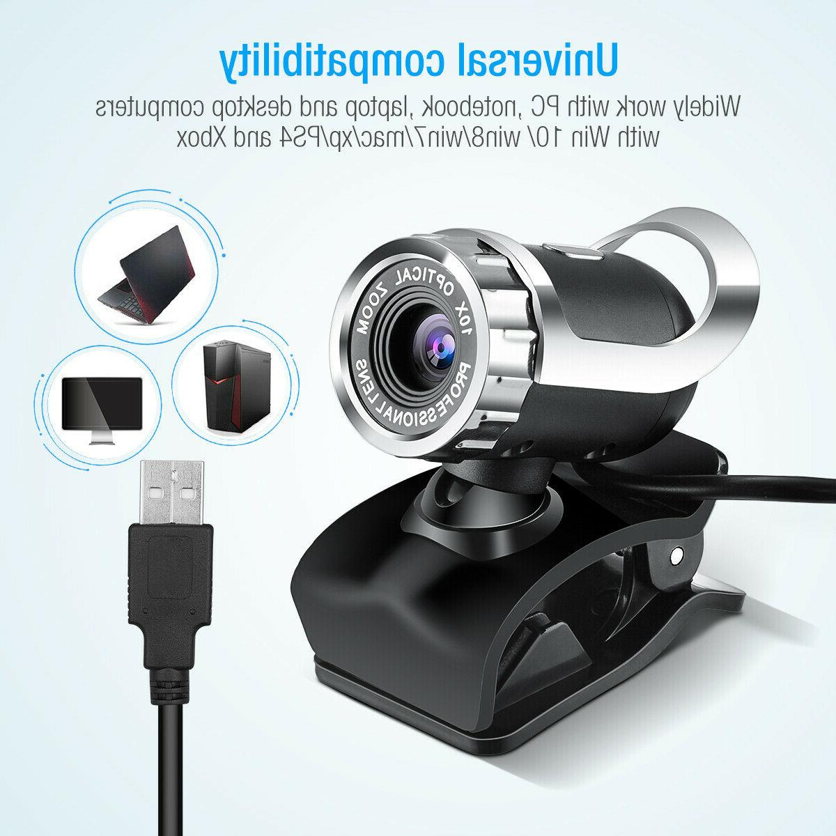 USB 2.0 with MIC Clip-on Computer PC 30FPS HD