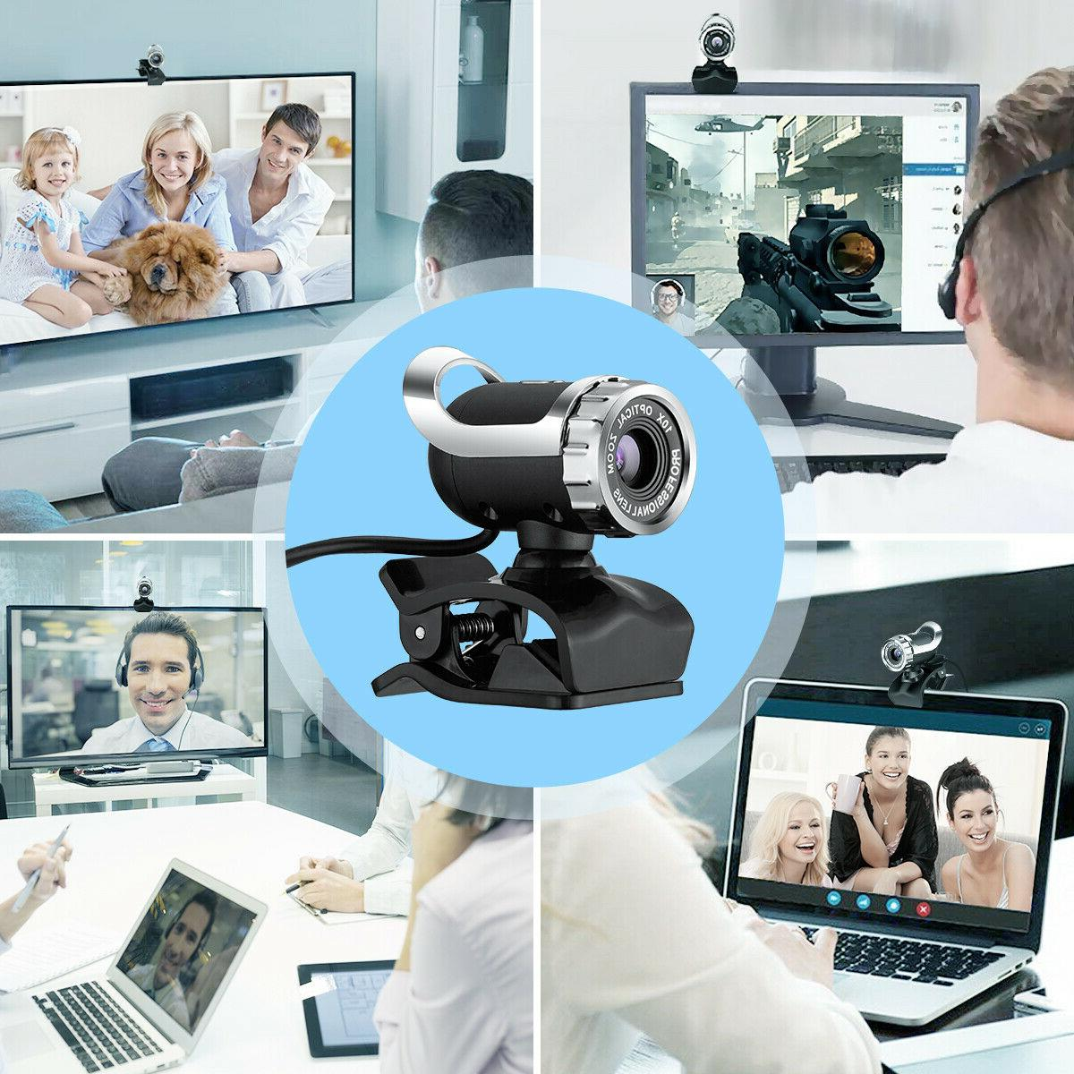 USB Webcam Camera with MIC Clip-on Computer 30FPS