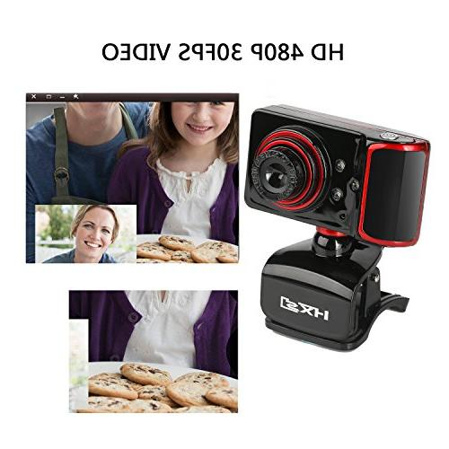 HXSJ 3 480P Webcam Skype Wide with and Play Manual Focus HD