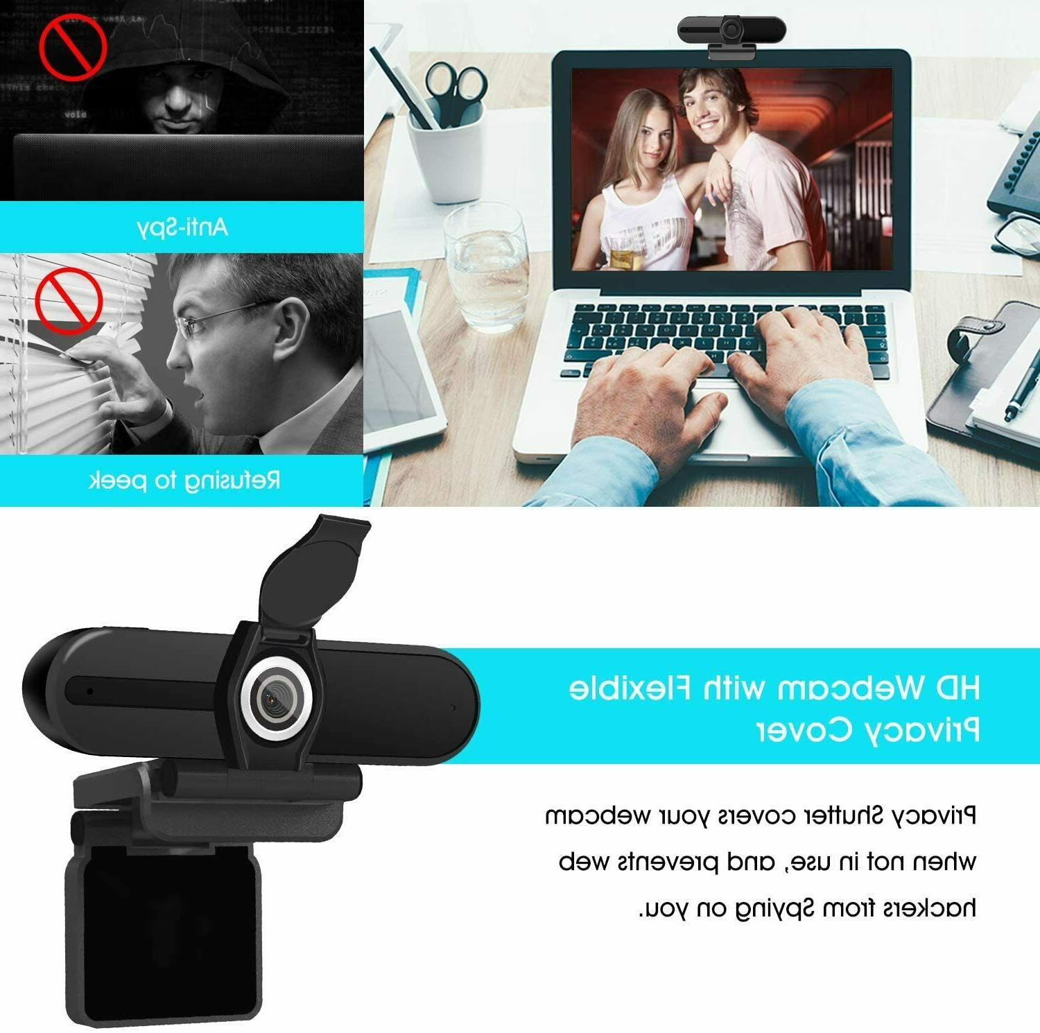 4K Webcam, HD Computer with Microphone, Pro Cam